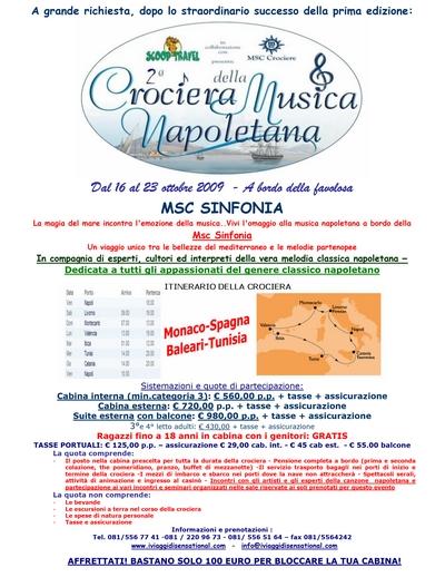 II Edizione - MSC Sinfonia, 16-23 ottobre 2009